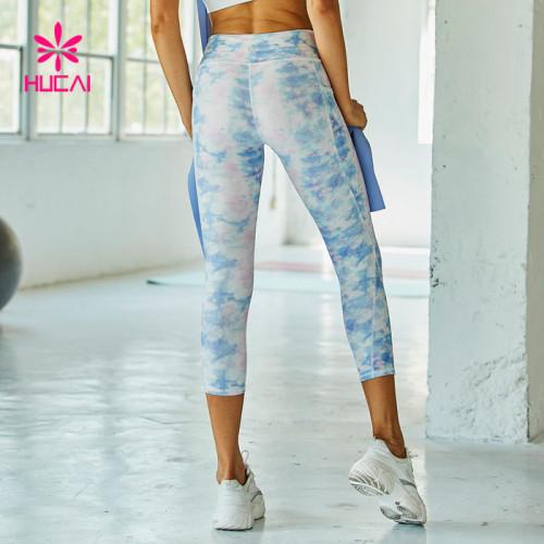 Wholesale Women Crop Sublimation Leggings Manufacturer-Custom Your Own Brand