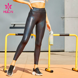 Wholesale Shiny Faux Leather Yoga Pants Manufacturer-Private Label Service