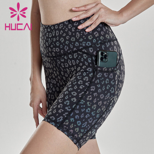Wholesale Manufacturer Women Printed Fitness Shorts-Private Label Service