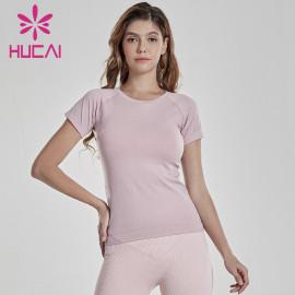 Wholesale Women Slim Fit Short Sleeve T Shirt Manufacturer-Custom Service