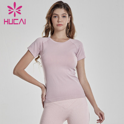 Wholesale Women Slim Fit Short Sleeve T Shirt Manufacturer-Custom Service