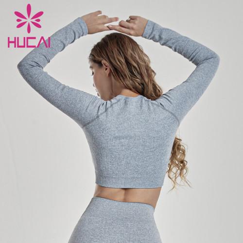 Custom Women Long Sleeve Crop T Shirt Manufacturer-China Clothing Supplier
