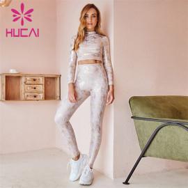 Wholesale Sportswear Apparel Full Body Gilded Printed Sportswear Suit