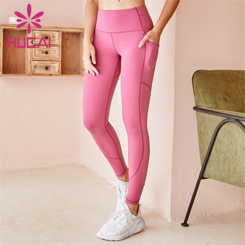 Wholesale Custom Gym Solid Color High Waist Leggings