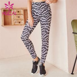 Wholesale Custom High Waist Zebra Pattern Leggings