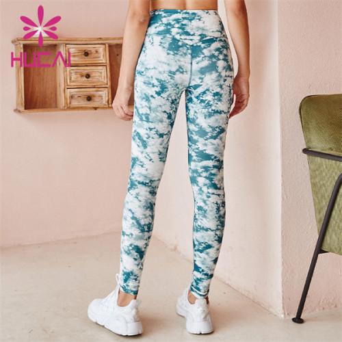 Wholesale Custom High Waist Printed Fitness Leggings