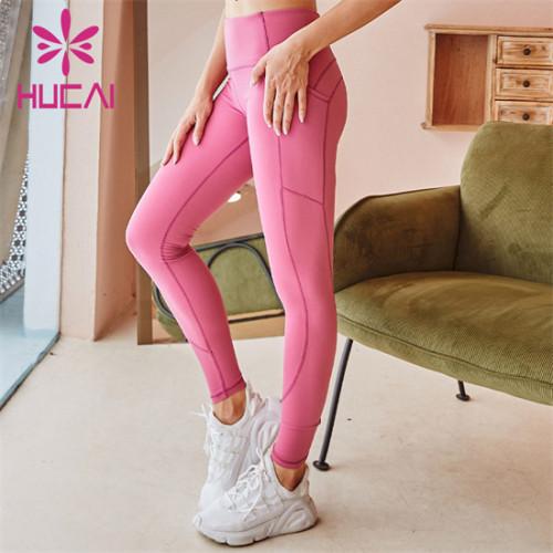 Gym Solid Color High Waist Leggings Wholesale Manufacturer