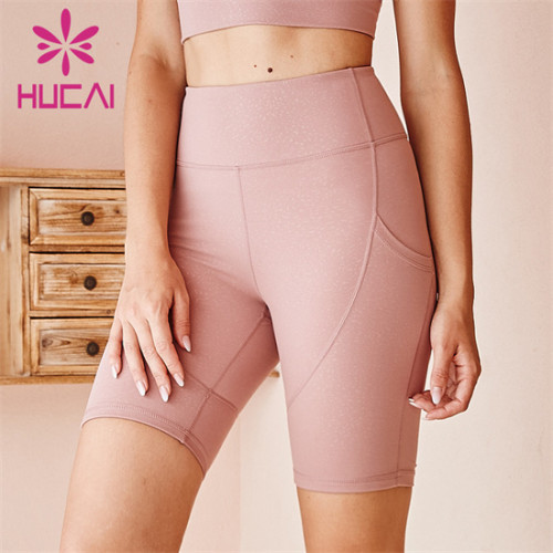 Pure Color High Waist Cycling Shorts Wholesale Customization