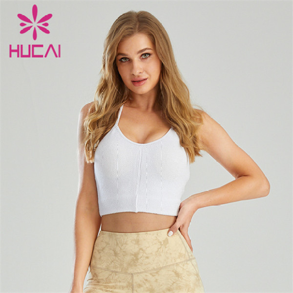Sexy Gathered Sling Sports Bra Wholesale Supplier
