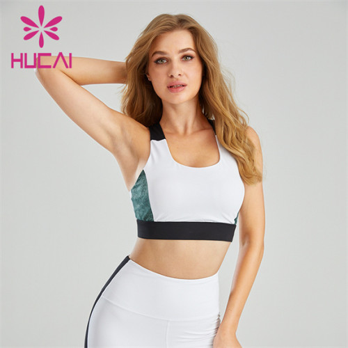 Wholesale Gym Tri-color Running Sports Bra