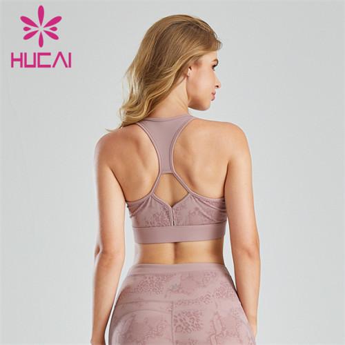 Customized U-neck Printed Halter Fitness Sports Bra
