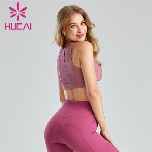 Pink Stitching Running Sports Bra Wholesale Supplier