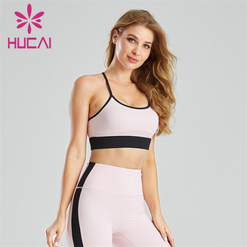 Sexy Two-tone Sling Backless Sports Bra Wholesale Supplier