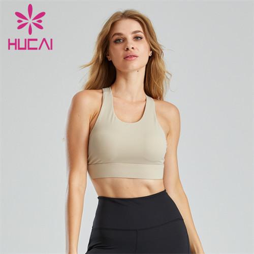 Pure Color Fitness Yoga Anti-sagging Sports Bra Wholesale