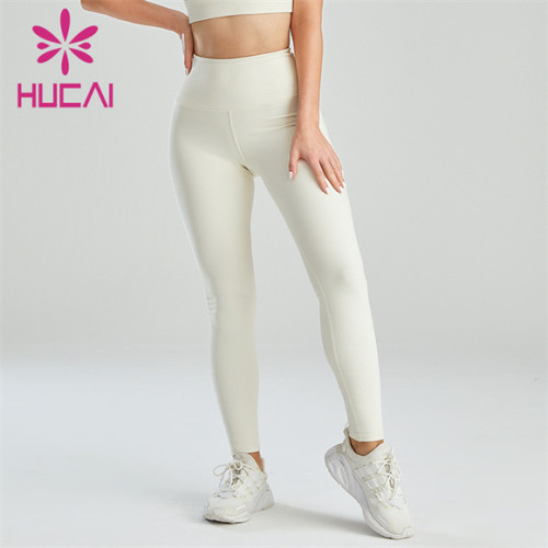 Wholesale White High Waist Stretch Hip Leggings