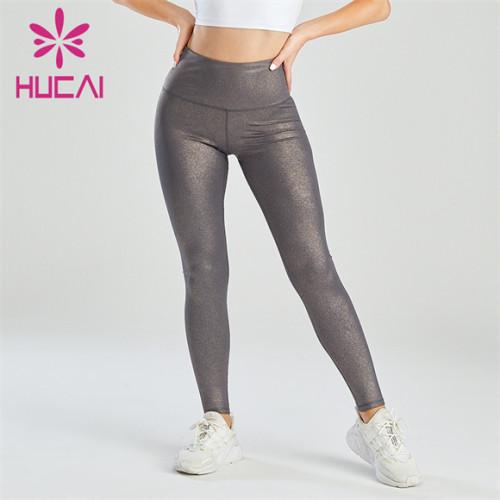 Black Bronzing High Waist Hip Leggings Wholesale Supplier