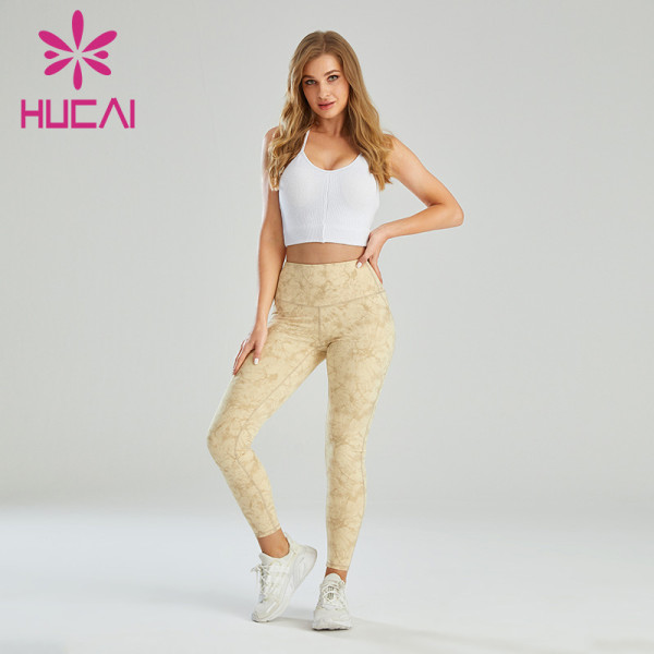 Workout Clothes For Wholesale Dynamic Sports Bra And Digital Printing Leggings