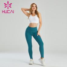 Private Label Activewear Manufacturer China Hip Lifting Leggings Set