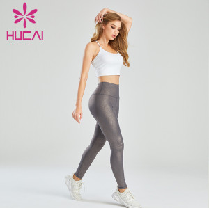 Wholesale Fitness Clothing China Gold Stamping Leggings Set