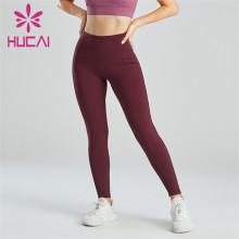 Crimson High Waist Abdomen Fitness Leggings Wholesale