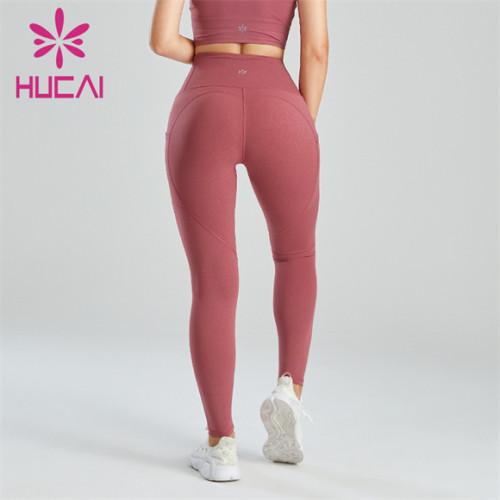 Women's Sports High Waist Solid Color Leggings Wholesale
