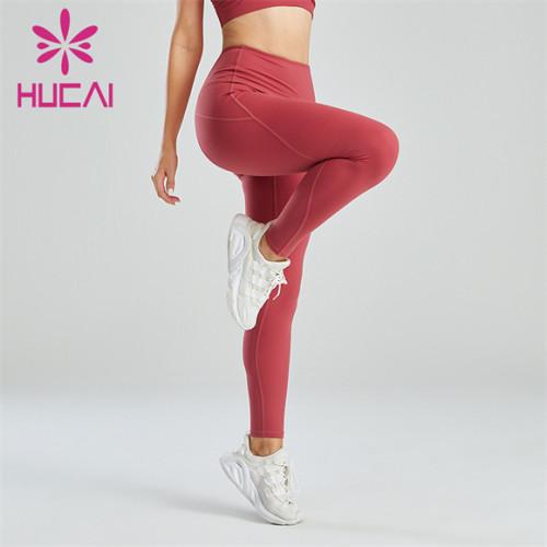Gym Ladies High Waist Solid Color Leggings Wholesale