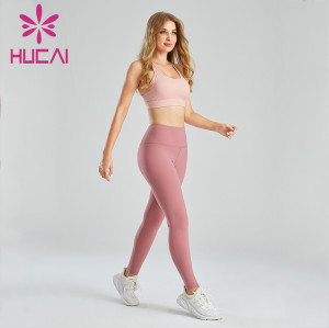 Wholesale Private Label Fitness Clothing Dark Pink Design