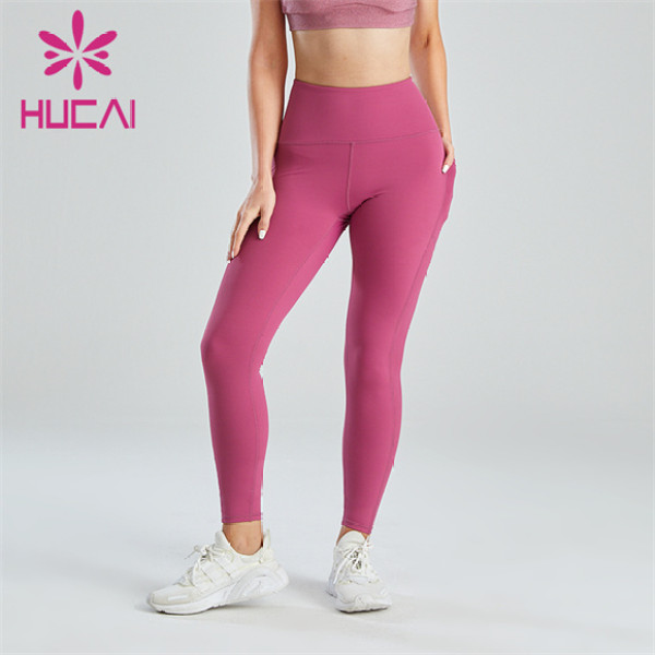 Gym Ladies Sexy Pink Hip Leggings Wholesale