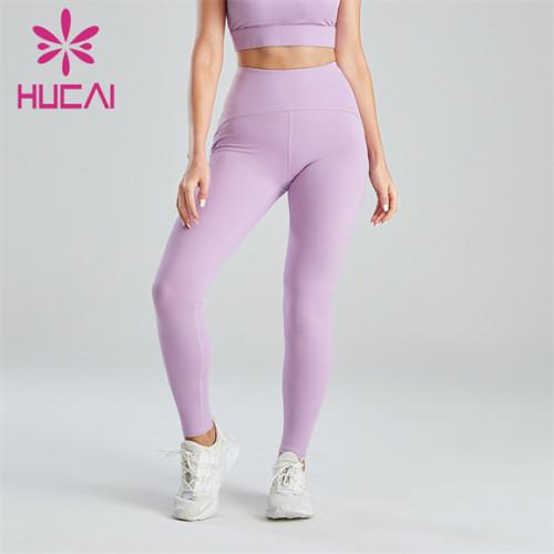 Ladies Light Purple Abdomen Lifting Hip Leggings Wholesale