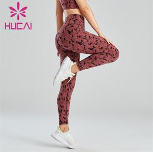 Custom Sexy And Fashionable Camouflage Jacquard Leggings