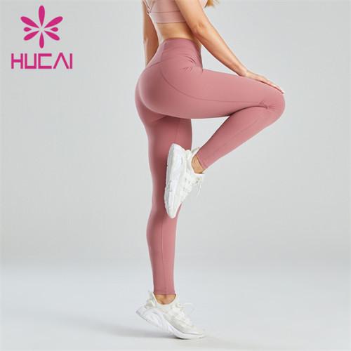 Tender Pink High-waist Slim-fit Buttocks Leggings Wholesale