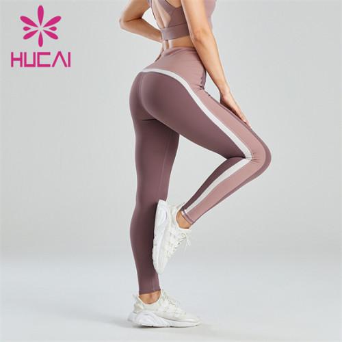 Three-color Stitching High Waist Hip Leggings Custom Wholesale