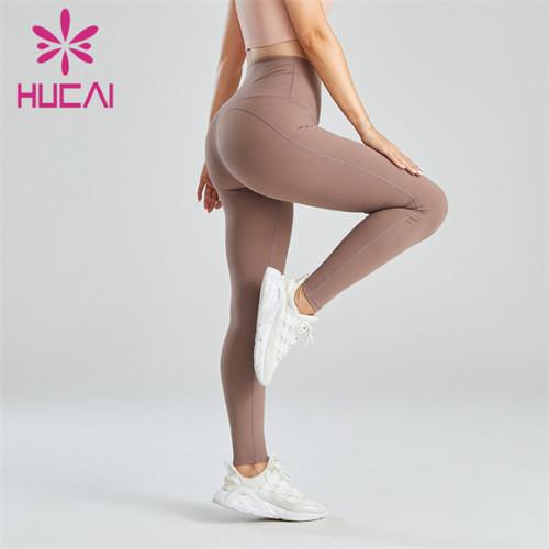 Light Brown High-waisted Hip-lifting Slim Leggings Wholesale