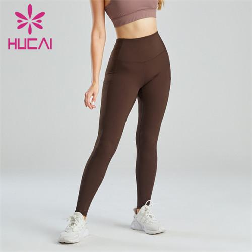 Dark Brown Running Fitness Sports Leggings Wholesale