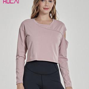 China Custom Activewear Manufacturer Wholesale Long Sleeve Women Crop Running Workout Shirt
