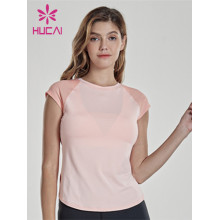 China Custom Activewear Manufacturer Wholesale Women Crop Running Workout Shirt
