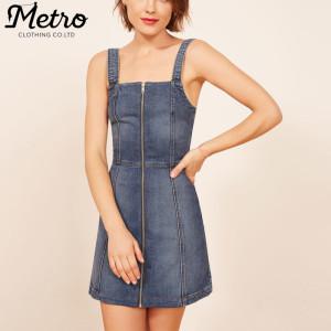 OEM women fashion new design mini length skirt denim dress