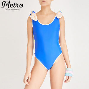 Custom womens self -tie shoulder one piece hot sexy summer swimsuits