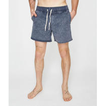 Wholesale mens acid washed drawstring board denim shorts