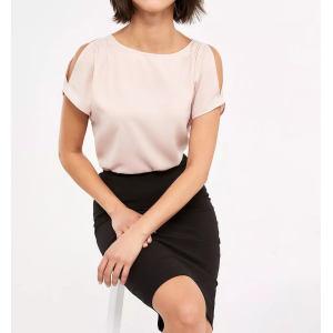 Custom Women Pink Cold Shoulder Blouse