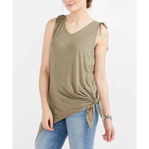 Custom Women V-neck Bowknot Overlong Tank Top