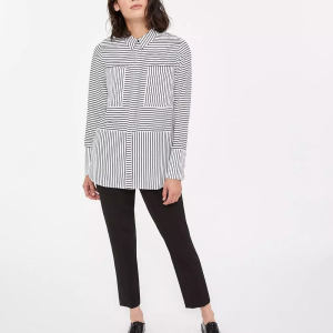 Custom Women Casual Loose Striped Shirts