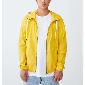 Custom mens winter drawstring windbreaker track jackets