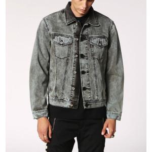 Wholesale Mens Grey Washed Denim Jackets