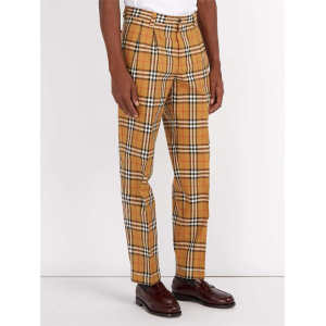 OEM Custom Mens Vintage Checked Cotton Pants