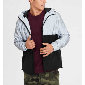 Wholesale mens sports wear reflective windbreaker jackets