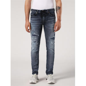 OEM Custom Mens Distress Washed Denim Jeans
