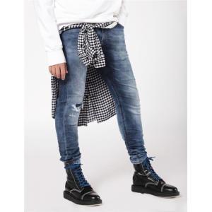Fashion Custom Mens Distressed Slim Fit Denim Jeans
