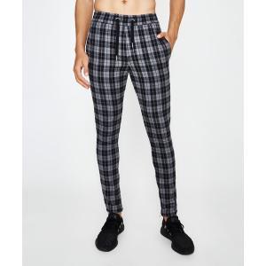 Custom mens fashion black and white check chino pants