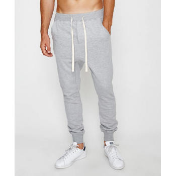 Wholesale mens grey cotton track jogger pants